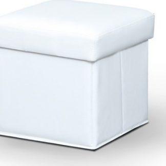 Tempo Kondela Taburet WIKI - bílá + kupón KONDELA10 na okamžitou slevu 3% (kupón uplatníte v košíku)