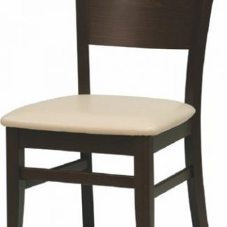 ATAN Jídelní židle Comfort koženka Maracaibo crema/buk - II. jakost
