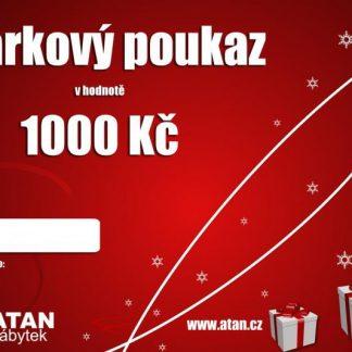 ATAN Vánoční dárkový poukaz v hodnotě 1000 Kč Tištěný