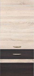 BRW Kuchyňská skříňka Junona Line D2D//195-P dvířka Bílý lesk/šedý wolfram/korpus bílý
