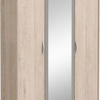 Tempo Kondela Skříň se zrcadlem GRAPHIC - dub arizona / šedá + kupón KONDELA10 na okamžitou slevu 3% (kupón uplatníte v košíku)