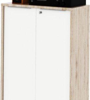 Tempo Kondela Skříň Rioma TYP 09 - san remo / bílá + kupón KONDELA10 na okamžitou slevu 3% (kupón uplatníte v košíku)