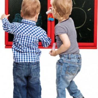 Forclaire Dětská magnetická/křídová tabule na stěnu - červená