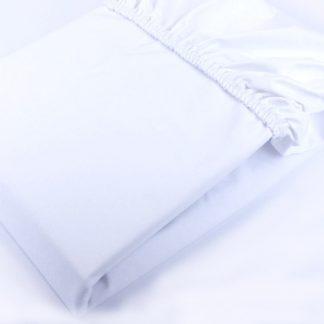 Forclaire Nepromokavé bavlněné prostěradlo - bílá 160 x 80 cm