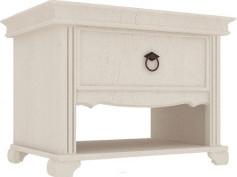 Lubidom Noční stolek Amelie 1 šuplík - bílá provence