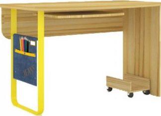 Lubidom Psací stůl Jeans rovný - santana / žlutý