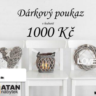ATAN Dárkový poukaz v hodnotě 1000 Kč Tištěný