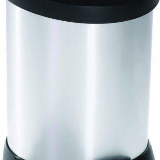 Curver Odpadkový koš DECOBIN 5L - stříbrný