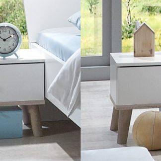 Casarredo Noční stolek (2 ks) BERGEN 698 bílá/dub