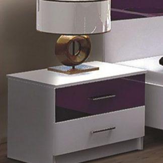 Casarredo Noční stolek DUBAJ fialový