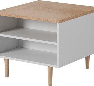 Tempo Kondela Konferenční stolek Laveli LL - bílá / buk pískový + kupón KONDELA10 na okamžitou slevu 3% (kupón uplatníte v košíku)