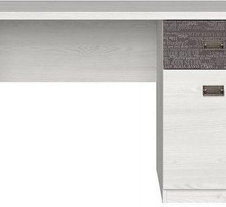 BRW Psací stůl Namur BIU1D1S - modřín sibiu světlý/sentences šedá