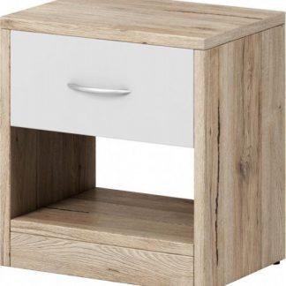 Falco Noční stolek Izzy 1s dub san remo/bílá