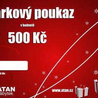 ATAN Vánoční dárkový poukaz v hodnotě 500 Kč Tištěný