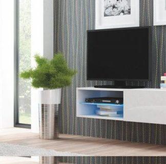 Halmar Televizní stolek Livo RTV-120W korpus bílý/bílá vysoký lesk