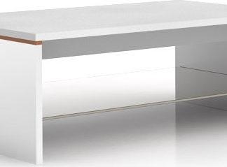 BRW Konferenční stolek Azteca LAW/4/11 Bílý lesk/dub canterbury