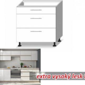 Tempo Kondela Kuchyňská skříňka LINE WHITE D80 3 ZAS + kupón KONDELA10 na okamžitou slevu 3% (kupón uplatníte v košíku)