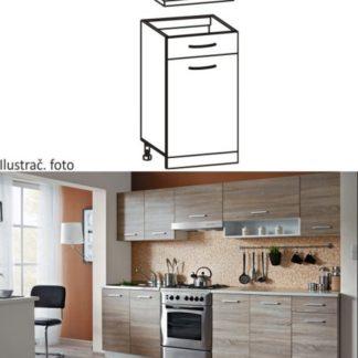 Tempo Kondela Kuchyňská skříňka CYRA NEW D1S-40 + kupón KONDELA10 na okamžitou slevu 3% (kupón uplatníte v košíku)