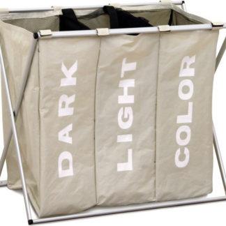 Tempo Kondela Látkový koš na prádlo LAUNDRY TYP 3 - šedobéžová + kupón KONDELA10 na okamžitou slevu 3% (kupón uplatníte v košíku)