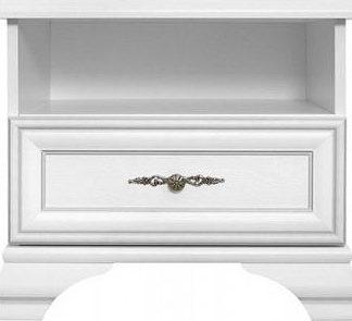 BRW Noční stolek Idento KOM1S - Bílá