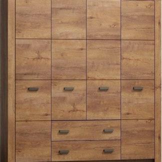 Casarredo Šatní skříň 4-dveř. INDIANAPOLIS I-18 jasan světlý