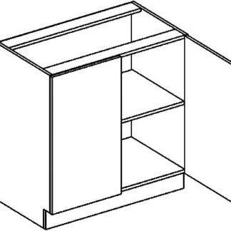 Casarredo D80 dolní skříňka dvojdvéřová PREMIUM de LUX olše