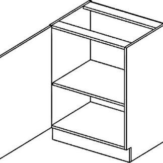 Casarredo D60L dolní skříňka jednodvéřová PREMIUM de LUX olše