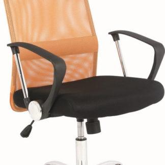 Casarredo Kancelářská židle Q-025 oranžová/černá
