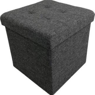 Tempo Kondela Taburet FALON - tmavě šedý + kupón KONDELA10 na okamžitou slevu 3% (kupón uplatníte v košíku)