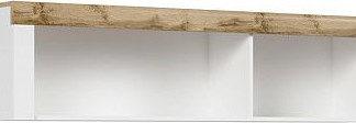 BRW Závěsná skříňka Holten SFW/156 - dub wotan/bílý lesk
