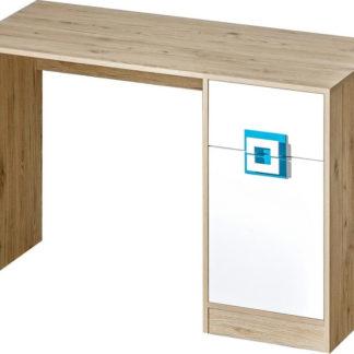 Casarredo Pracovní stůl NIKO 10 dub jasný/bílá/tyrkys