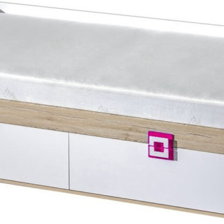 Casarredo Postel 90x200 NIKO 14 dub jasný/bílá/růžová