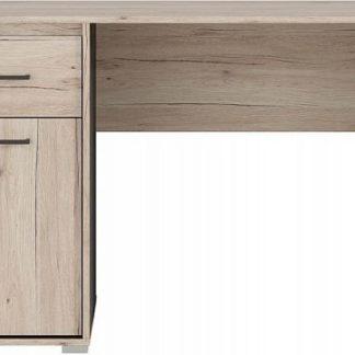 BRW Psací stůl Ronse BIU/120 - dub san remo světlý/šedý wolfram