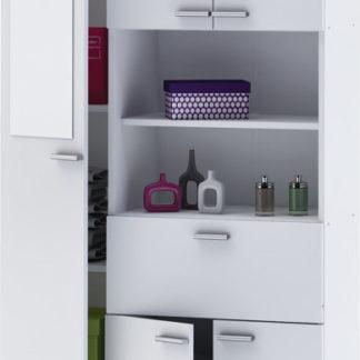 Idea Vysoká skříňka 1+4 dveře + 1 zásuvka KORAL bílá