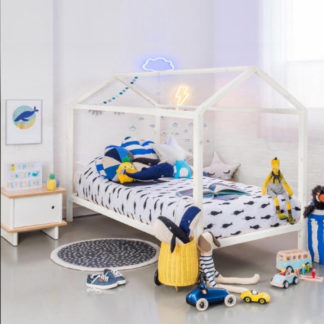Tempo Kondela Montessori postel IMPRES - borovicové dřevo/bílá + kupón KONDELA10 na okamžitou slevu 3% (kupón uplatníte v košíku)