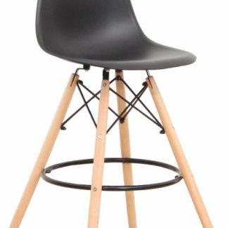 ATAN Barová židle CARBRY - černá/kov - II. jakost