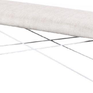 Tempo Kondela Designová lavice RIVOLA - béžová látka