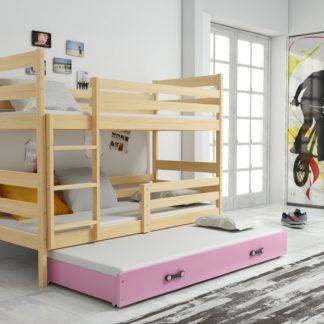 Falco Patrová postel s přistýlkou Norbert borovice/růžová