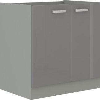Tempo Kondela Kuchyňská skříňka PRADO 80 ZL 2F BB - šedá + kupón KONDELA10 na okamžitou slevu 3% (kupón uplatníte v košíku)