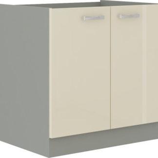 Tempo Kondela Kuchyňská skříňka PRADO 80 ZL 2F BB - krémová + kupón KONDELA10 na okamžitou slevu 3% (kupón uplatníte v košíku)