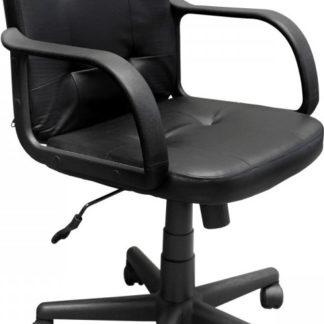 Idea Kancelářské křeslo MANAGER 2 černá kůže