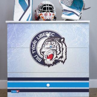 Forclaire Dětská hokejová komoda - Bílí Tygři Liberec