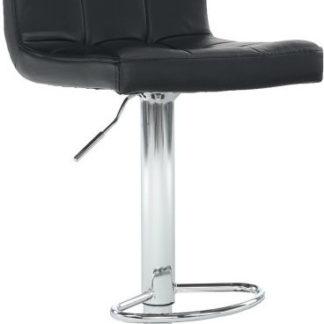 Tempo Kondela Barová židle KANDY NEW - černá ekokůže / chrom + kupón KONDELA10 na okamžitou slevu 3% (kupón uplatníte v košíku)