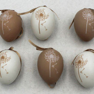 Autronic Vajíčka plastová hnědá a bílá