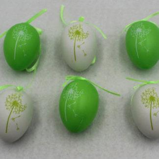 Autronic Vajíčka plastová zelená a bílá