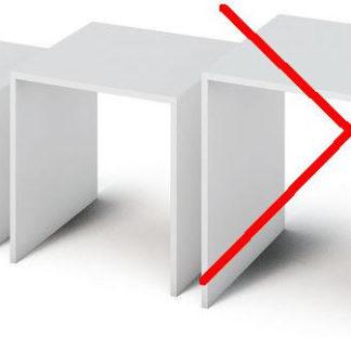 ATAN Sada dvou příručních stolku SIPANI NEW - bílá - II. jakost