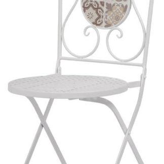 Autronic Židle kovová s mozaikovou keramikou