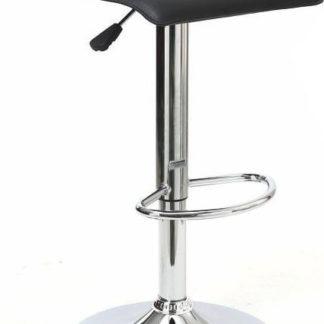 Tempo Kondela Barová židle LARIA NEW - eko kůže černá/chrom + kupón KONDELA10 na okamžitou slevu 3% (kupón uplatníte v košíku)