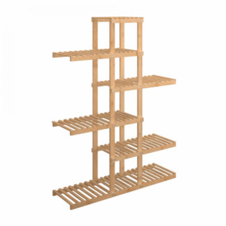 Tempo Kondela Regál TUSUM - bambus lakovaný + kupón KONDELA10 na okamžitou slevu 3% (kupón uplatníte v košíku)