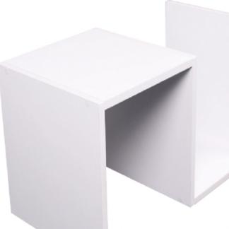 ATAN Příruční stolek VALMAR - bílá - II.jakost